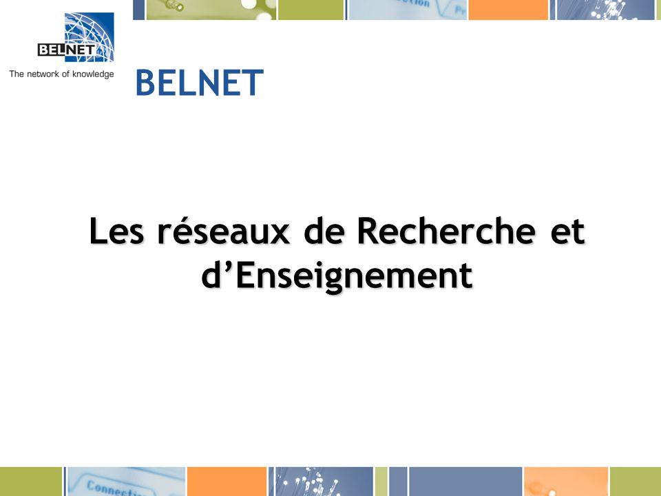 BELNET Les réseaux de Recherche et dEnseignement