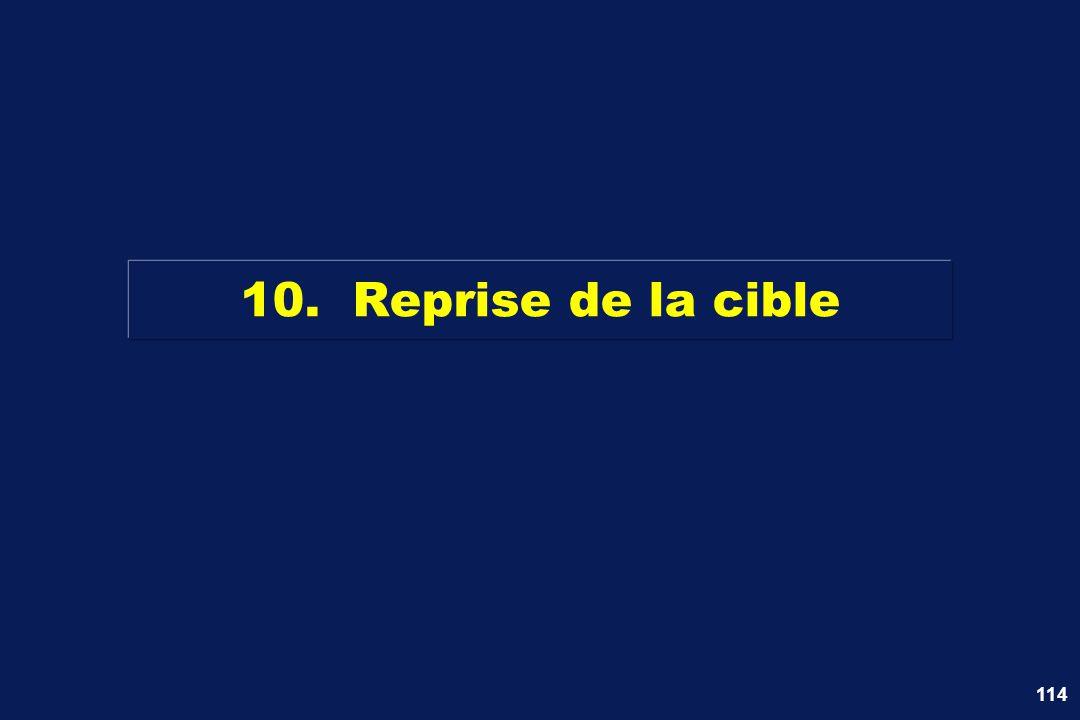 114 10. Reprise de la cible