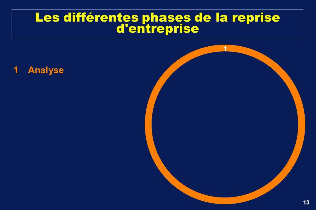 13 Les différentes phases de la reprise d'entreprise 1Analyse 1