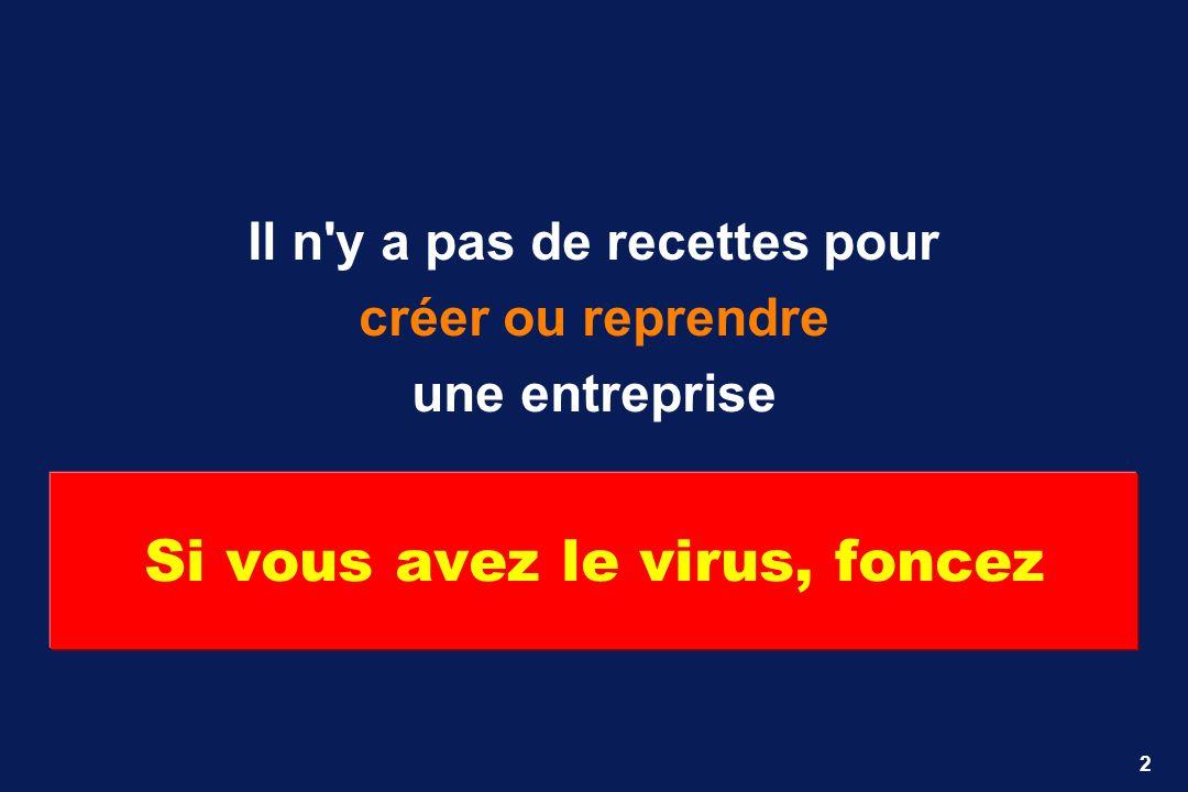2 Si vous avez le virus, foncez Il n'y a pas de recettes pour créer ou reprendre une entreprise