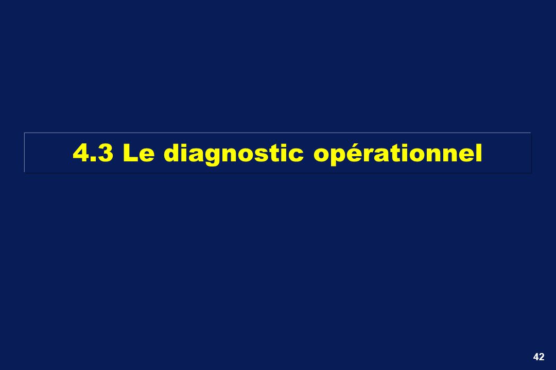 42 4.3 Le diagnostic opérationnel