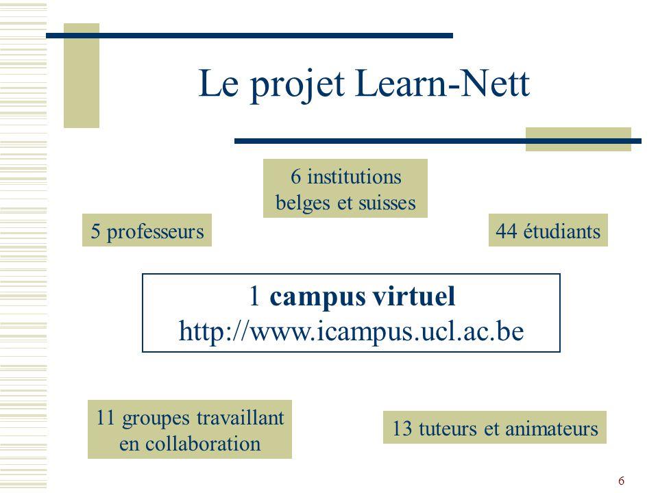 7 Objectifs du projet apprentissages pédagogiques apprentissages techniques apprentissages de la communication et de la collaboration à distance réflexivité