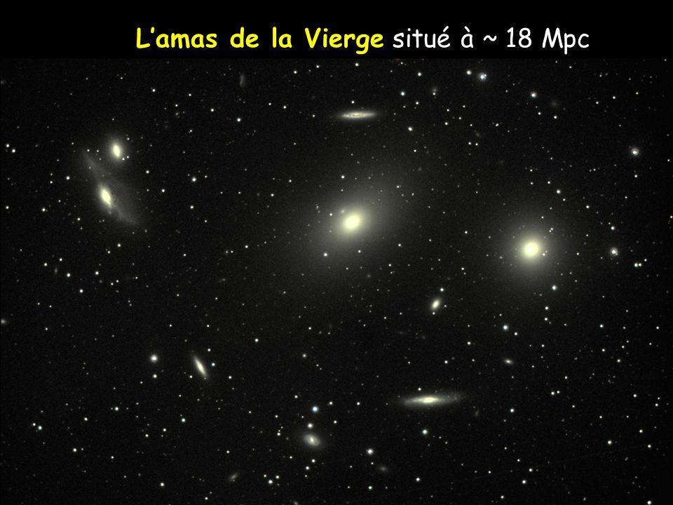 Lamas de la Coma situé à ~ 100 Mpc