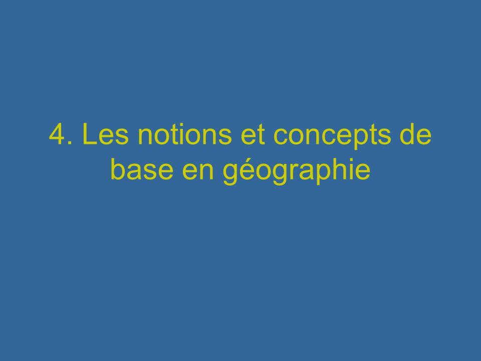 Espace Un espace devient géographique quand il a reçu un aménagement spécifique qui le distingue dun autre (Isnard, 1978) Espace géographique = traduction spatiale des actions humaines dans un milieu
