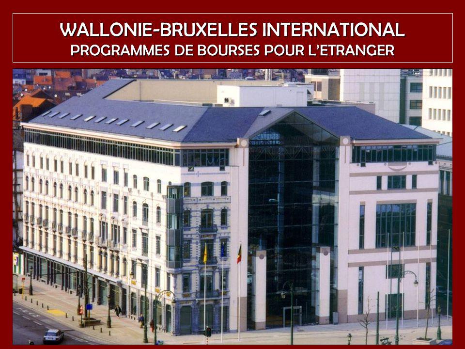 1 WALLONIE-BRUXELLES INTERNATIONAL PROGRAMMES DE BOURSES POUR LETRANGER