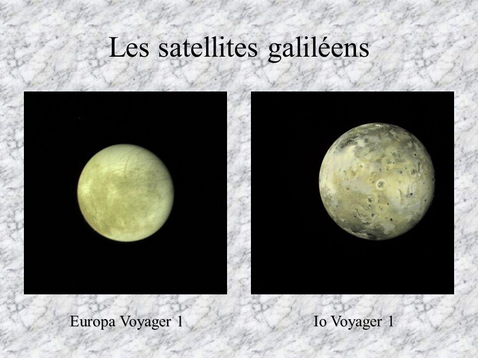 Les satellites galiléens Callisto Voyager 2 Ganymede Voyager 1