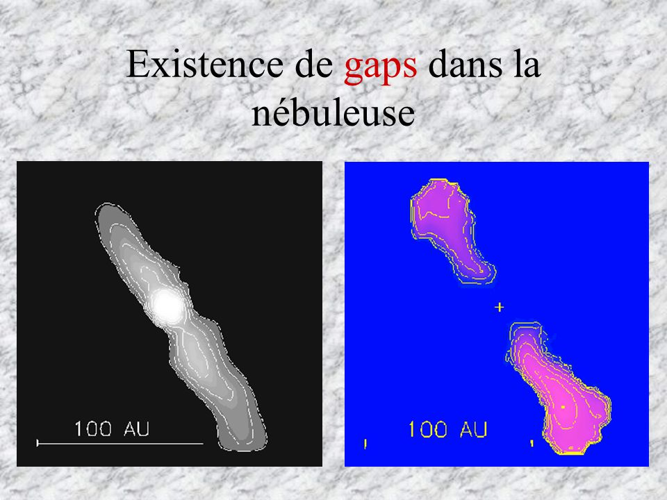 La migration provient principalement de lexistence de couples de torsion entre les zones internes et externes de la nébuleuse.
