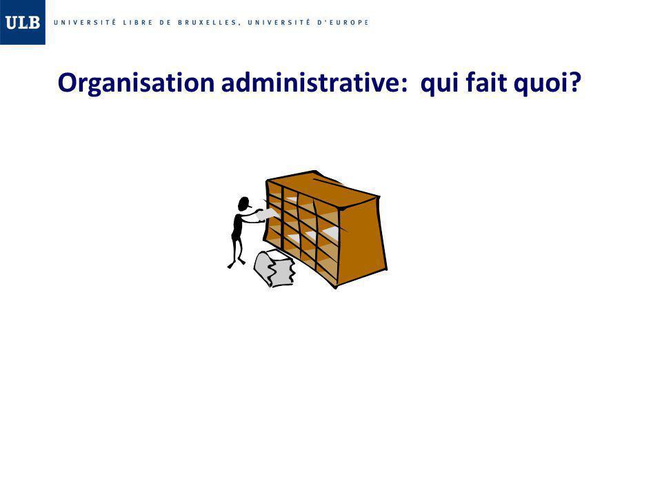 Organisation administrative: qui fait quoi?
