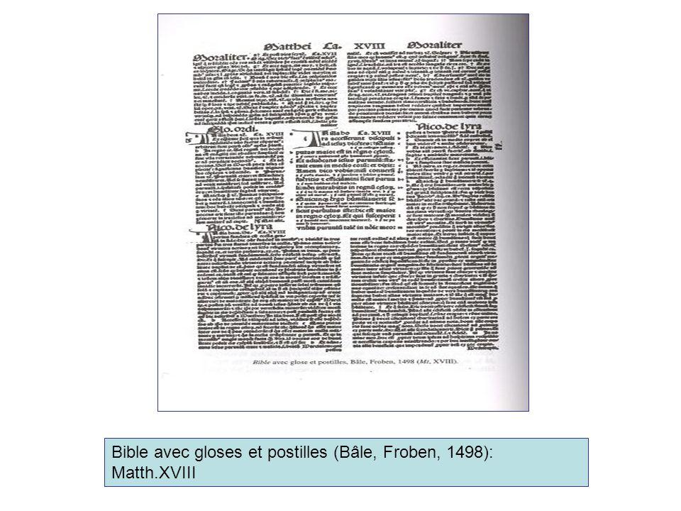Bible avec gloses et postilles (Bâle, Froben, 1498): Matth.XVIII