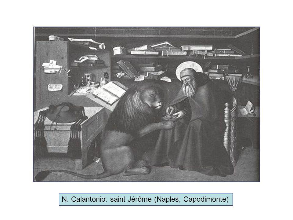 N. Calantonio: saint Jérôme (Naples, Capodimonte)