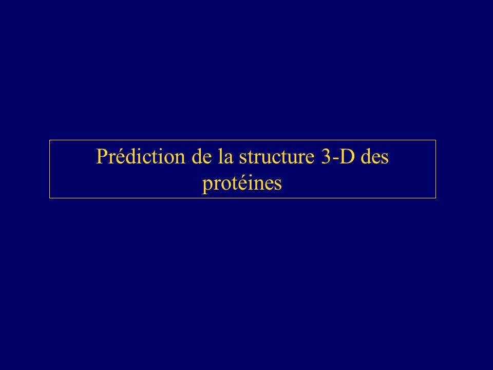 Prédiction de la structure 3-D des protéines