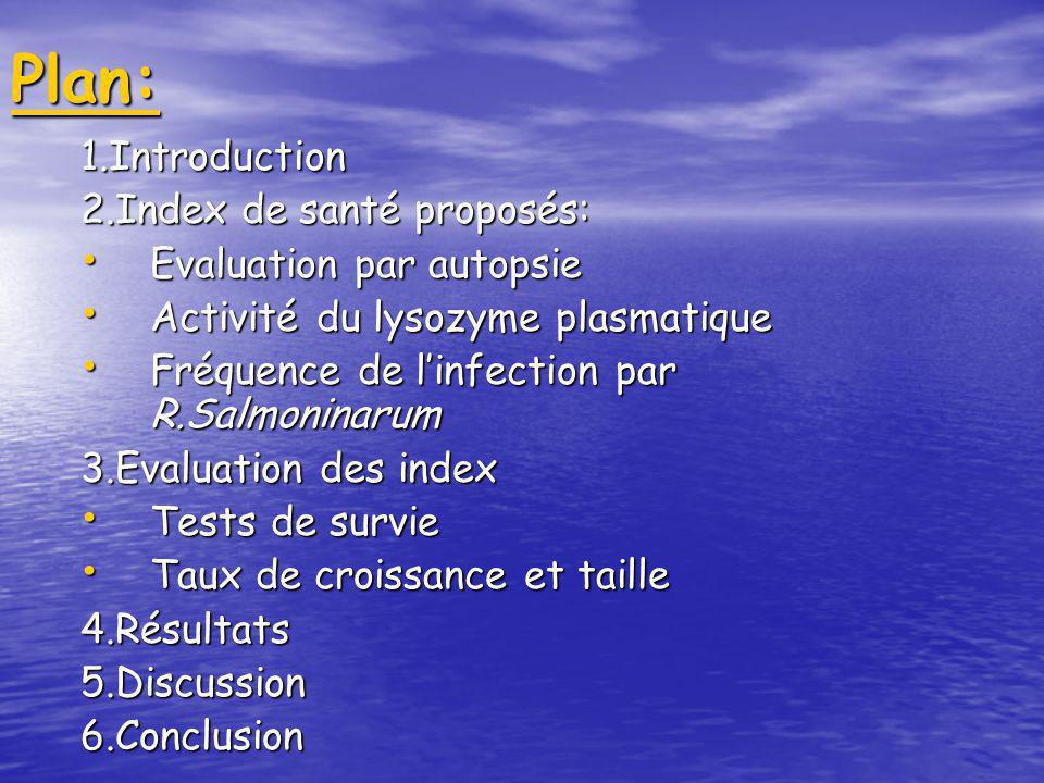 Intérêts de lutilisation des indicateurs de santé pour la sélection génétique des saumons