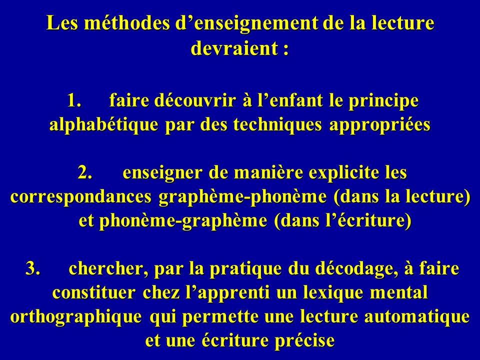 Dabord ils ont sensibilisé les professeurs à limportance de séparer la connaissance des graphèmes et des phonèmes, en leur proposant p.ex.