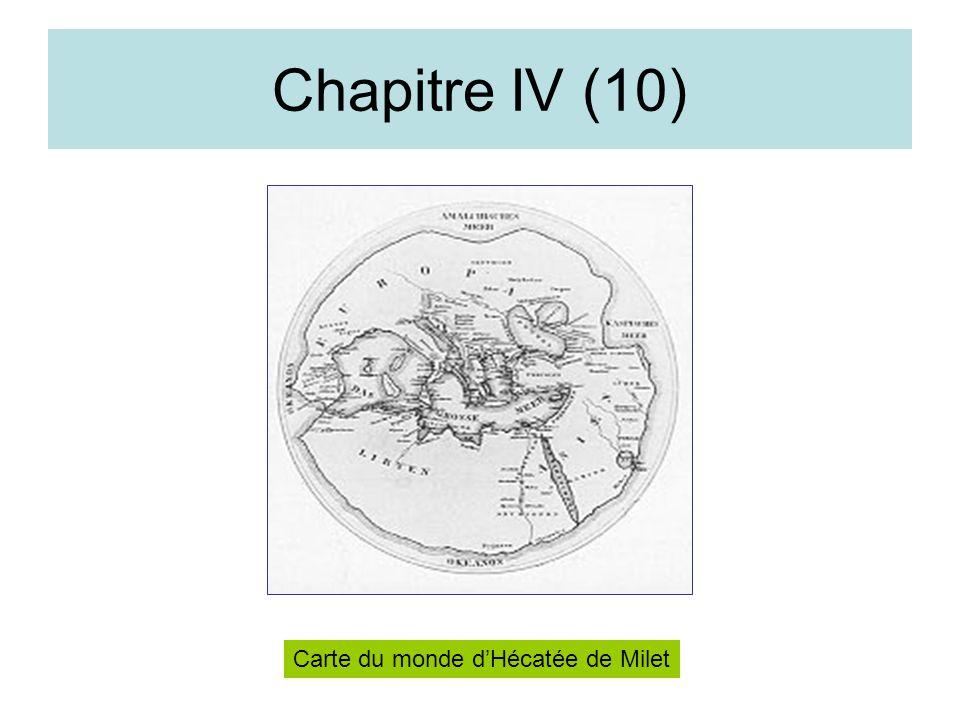 Chapitre IV (10) Carte du monde dHécatée de Milet