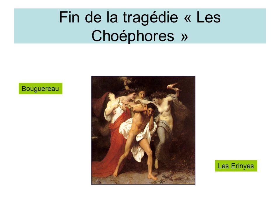 Fin de la tragédie « Les Choéphores » Bouguereau Les Erinyes