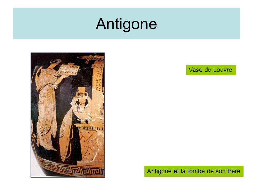 Antigone Antigone et la tombe de son frère Vase du Louvre