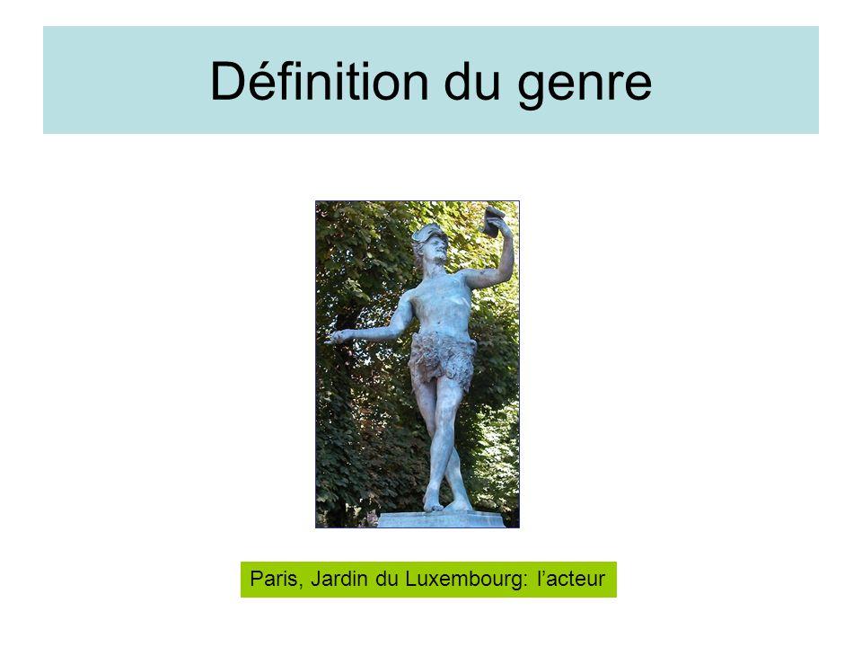 Définition du genre Paris, Jardin du Luxembourg: lacteur