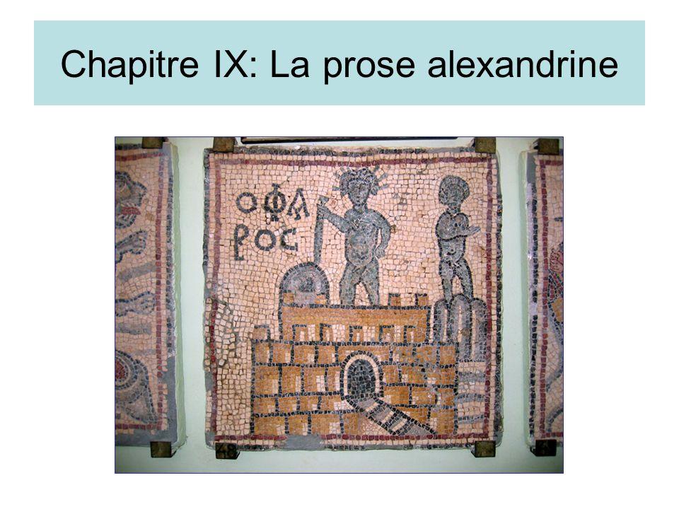 Chapitre IX: La prose alexandrine