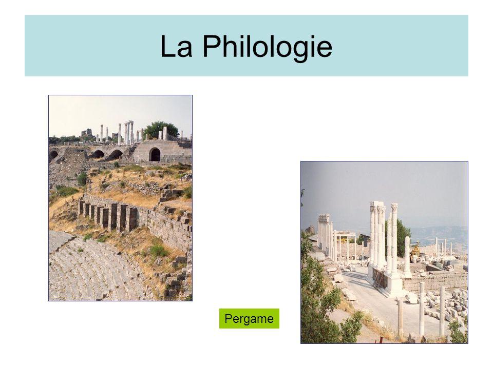 La Philologie Pergame