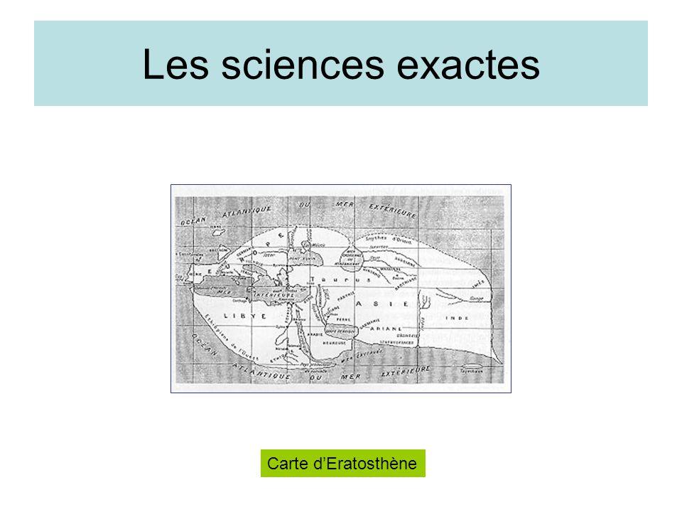 Les sciences exactes Carte dEratosthène