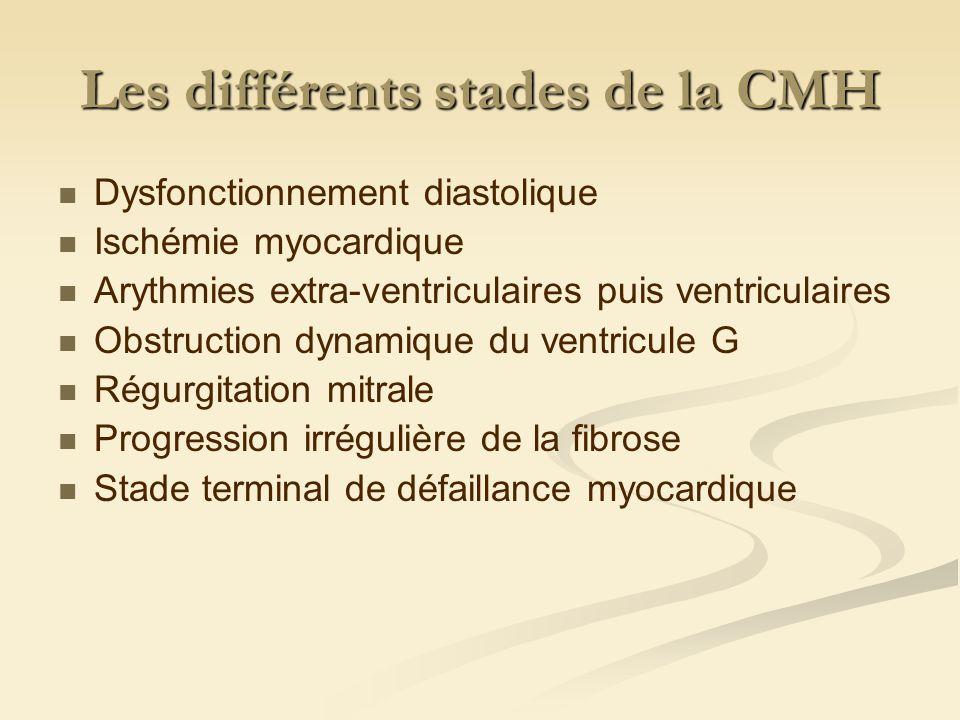 Diagnostic Biochimie : Parfois hyperazotémie pré-rénale Endocrinologie : Rechercher hyperthyroïdie qui peut-être la cause de la CMH