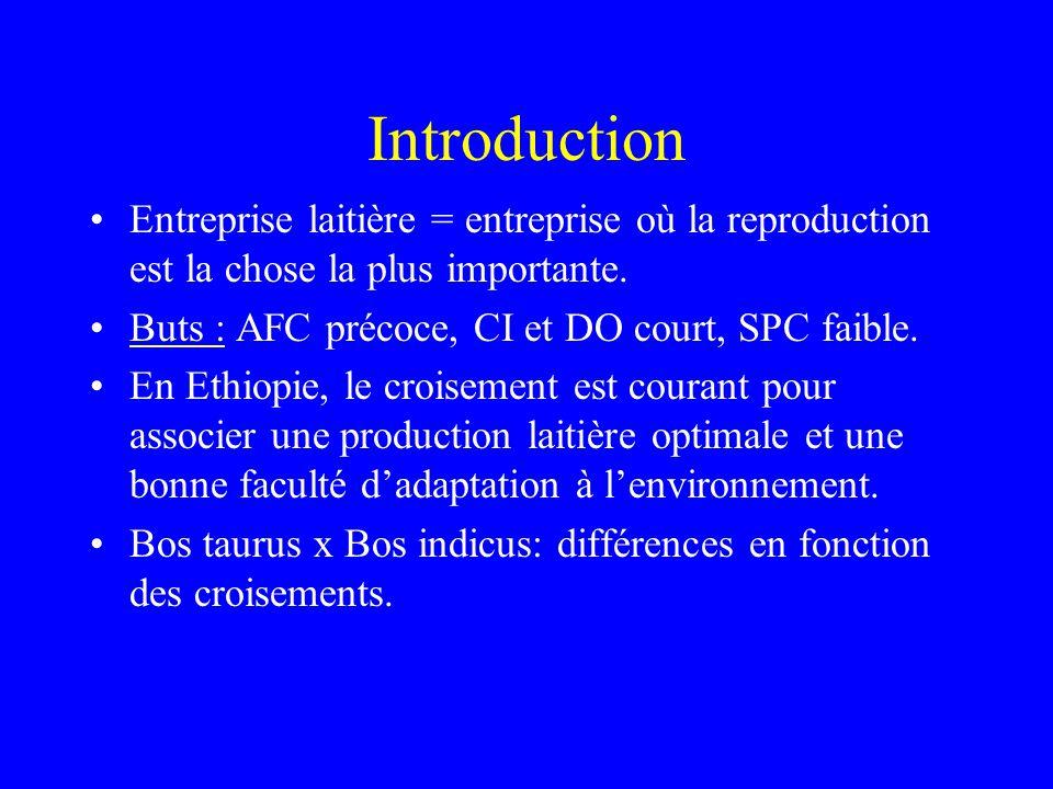 Introduction Entreprise laitière = entreprise où la reproduction est la chose la plus importante.