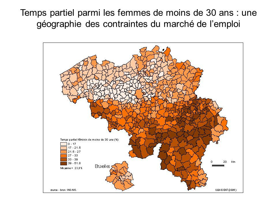Temps partiel parmi les femmes de moins de 30 ans : une géographie des contraintes du marché de lemploi