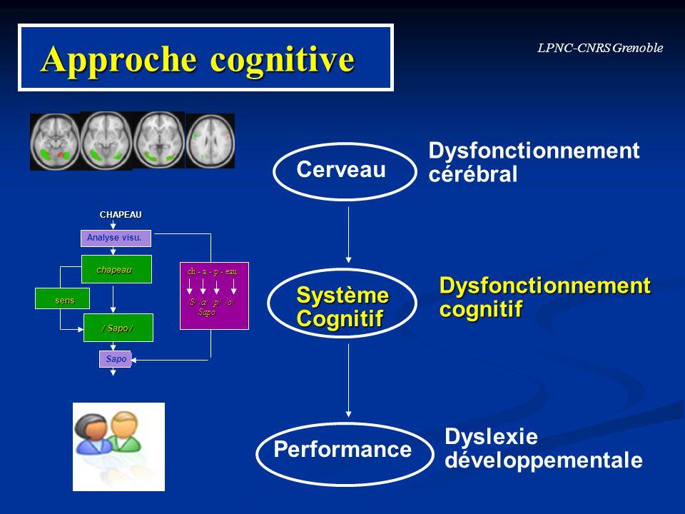 LPNC-CNRS Grenoble Cerveau SystèmeCognitif Performance Dyslexie développementale Dysfonctionnementcognitif Dysfonctionnement cérébral Approche cogniti