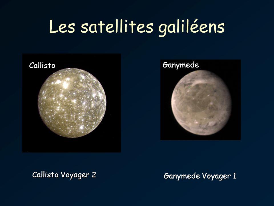 Les satellites galiléens Callisto Ganymede Voyager 1 Callisto Voyager 2 Ganymede