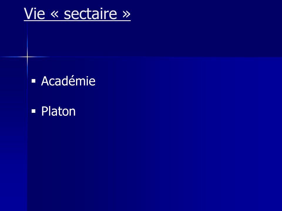 Académie Platon Vie « sectaire »