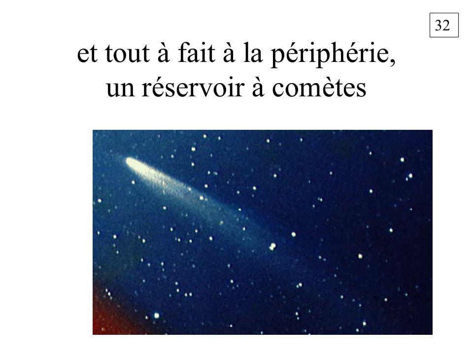 32 et tout à fait à la périphérie, un réservoir à comètes