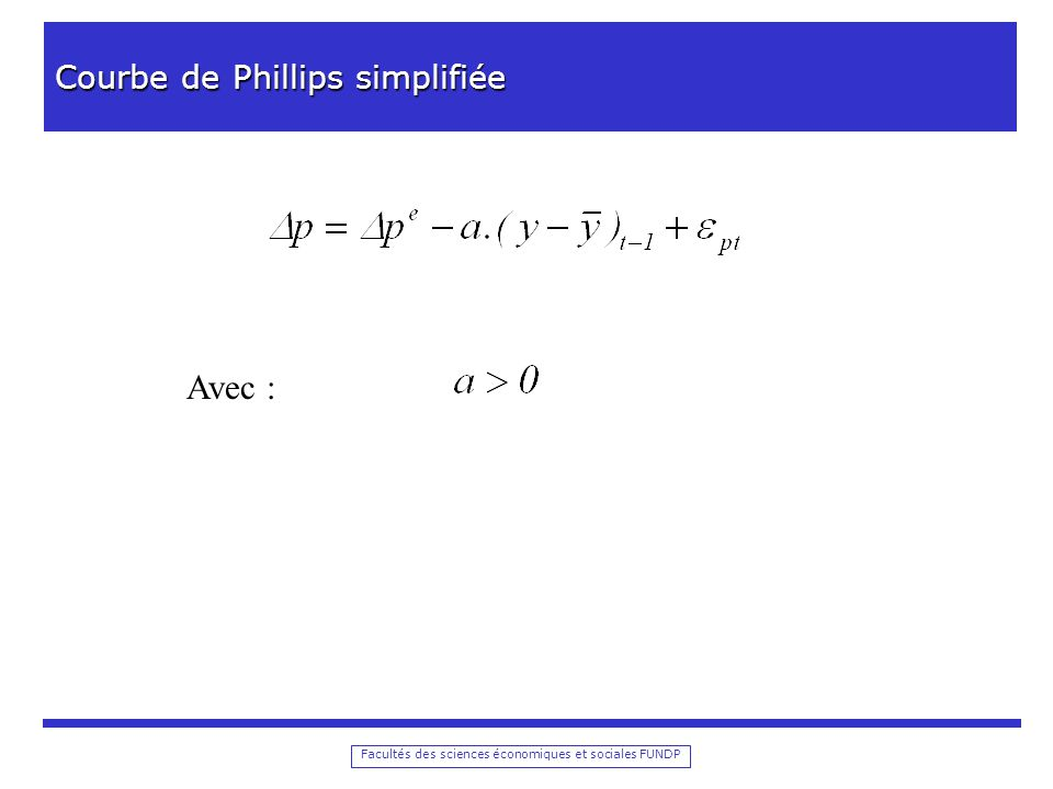 Facultés des sciences économiques et sociales FUNDP Modèle macro-économique simplifié 1.