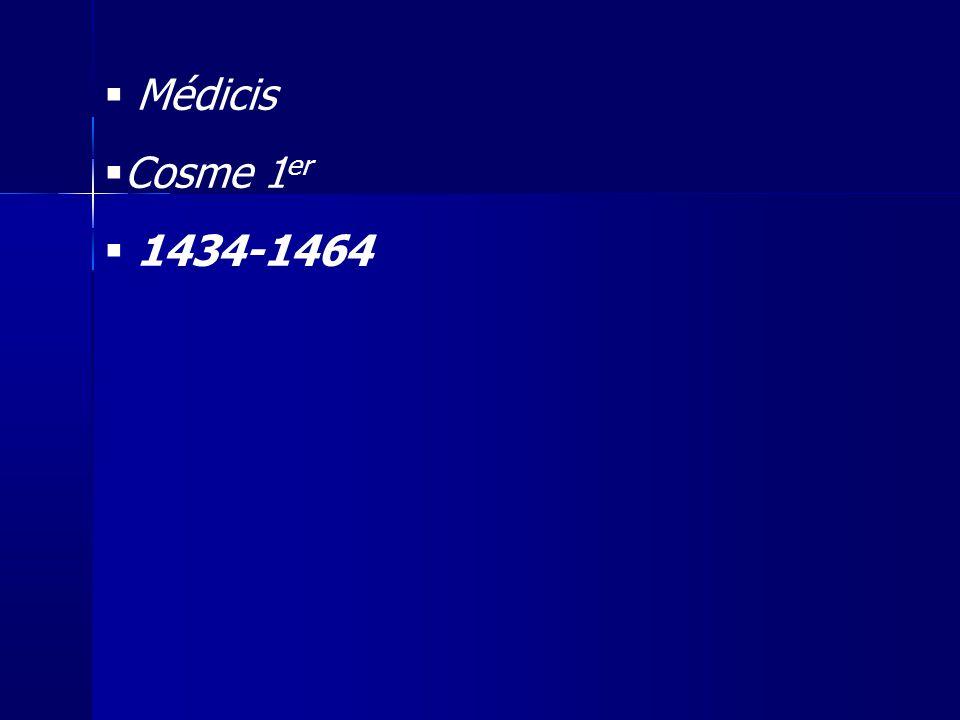 Médicis Cosme 1 er 1434-1464