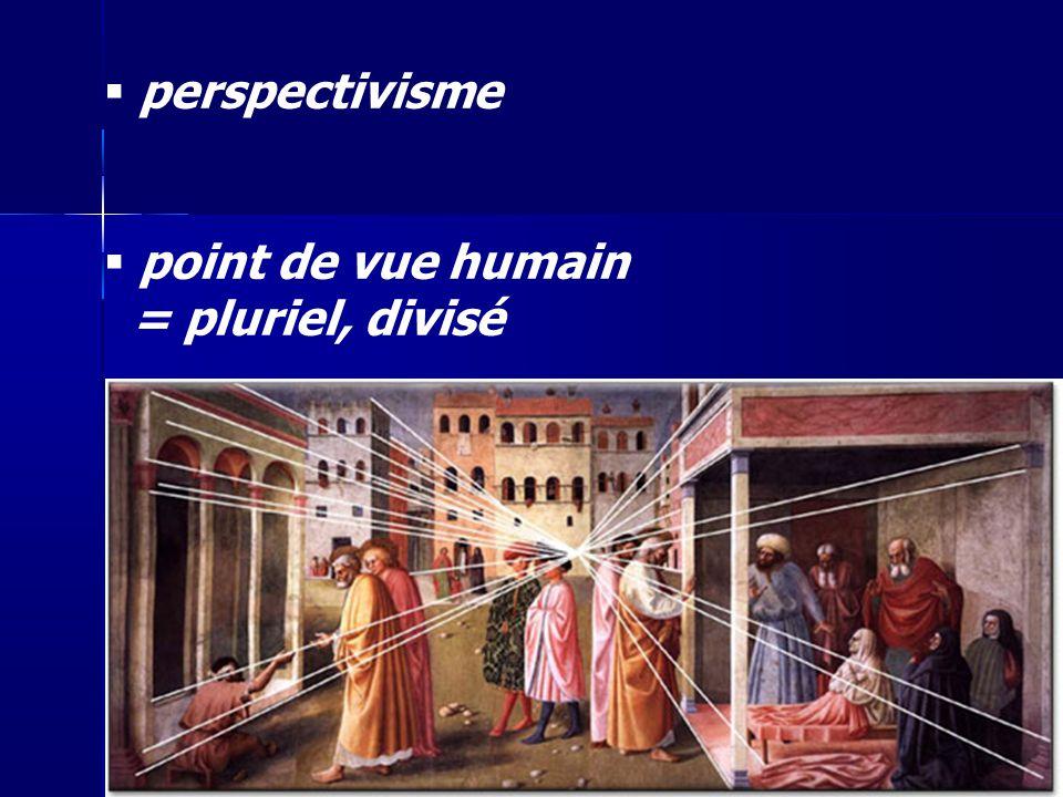 perspectivisme point de vue humain = pluriel, divisé