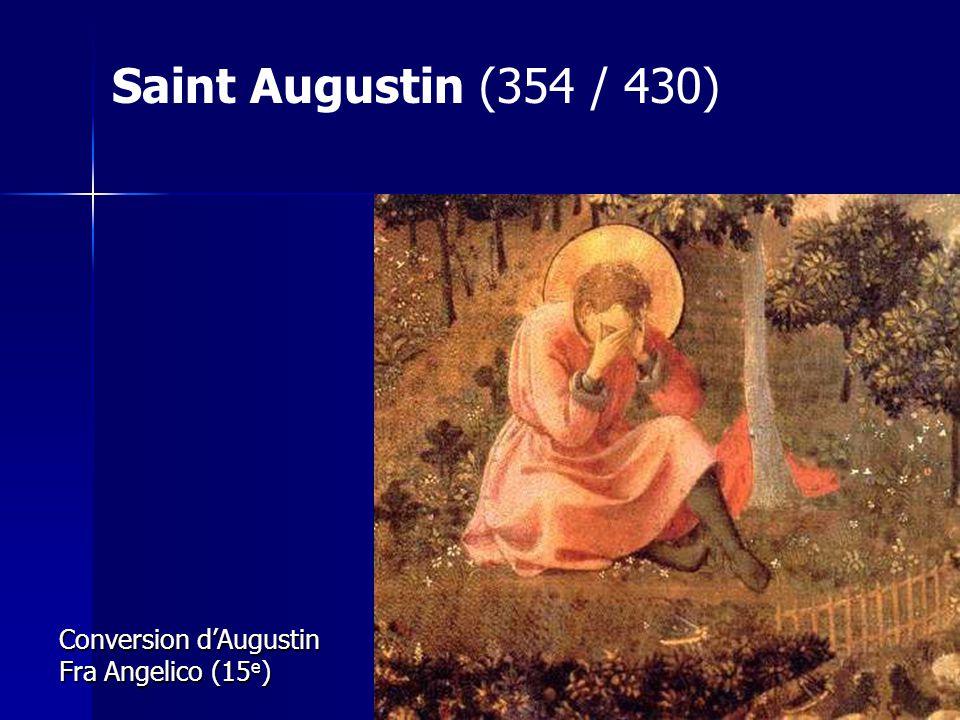 Conversion dAugustin Fra Angelico (15 e ) Saint Augustin (354 / 430)