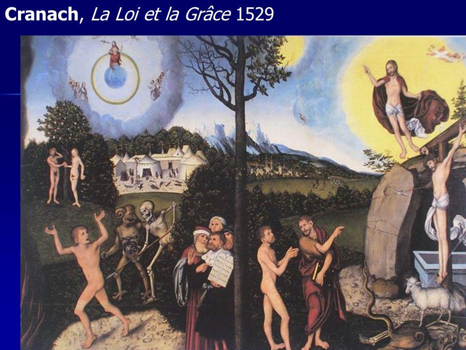 Cranach, La Loi et la Grâce 1529