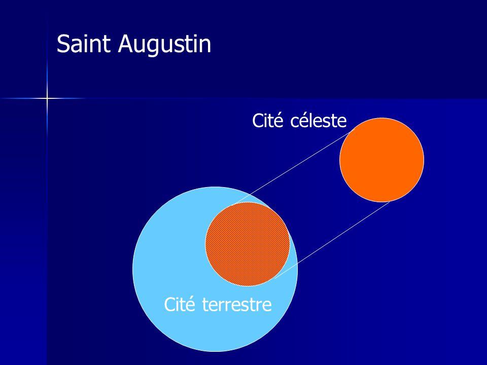 Cité céleste Cité terrestre Saint Augustin