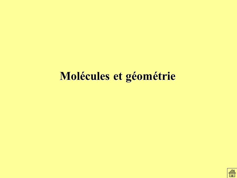 Molécules et géométrie
