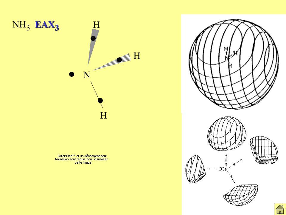 EAX 3 NH 3 EAX 3 Molécules NH3