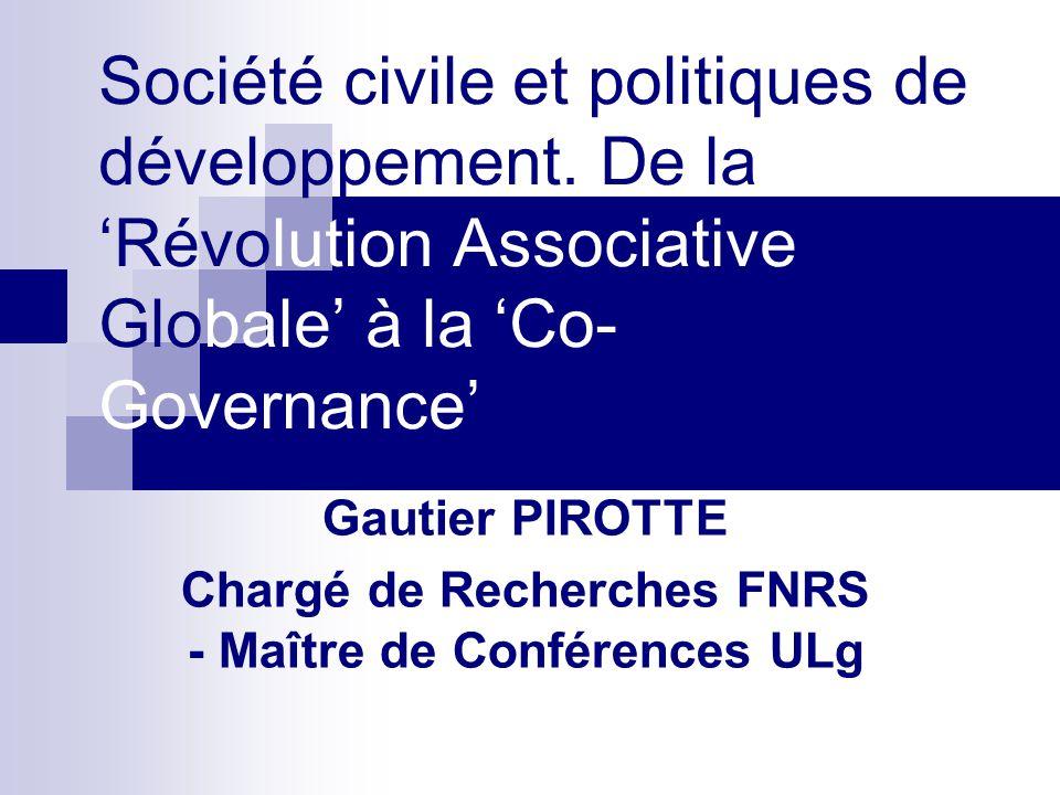 Société civile et politiques de développement.