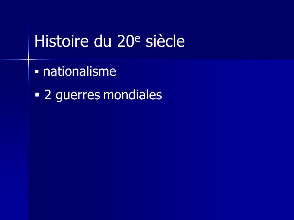 Histoire du 20 e siècle nationalisme 2 guerres mondiales