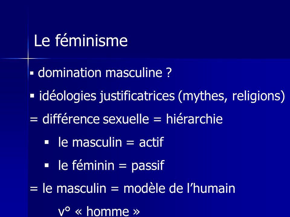 Le féminisme domination masculine .