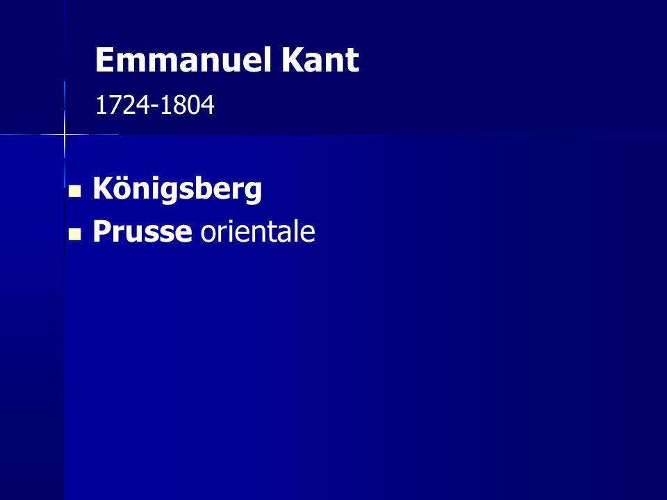 Emmanuel Kant 1724-1804 Königsberg Prusse orientale