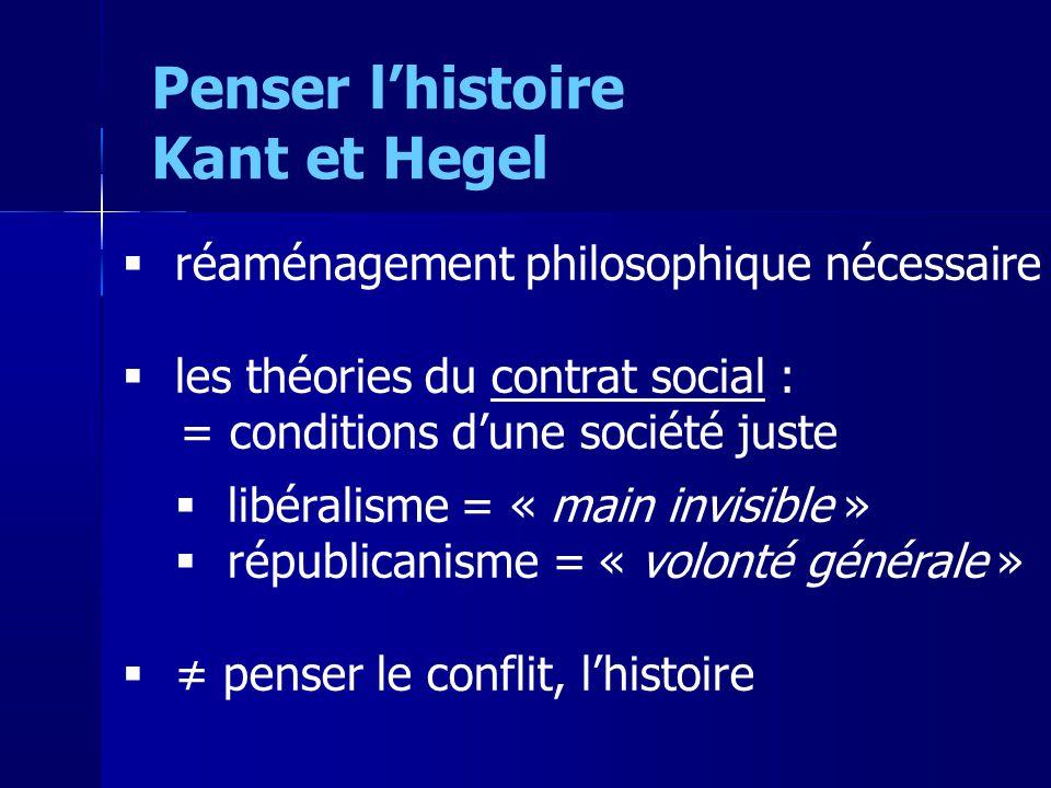 réaménagement philosophique nécessaire les théories du contrat social : = conditions dune société juste libéralisme = « main invisible » républicanism