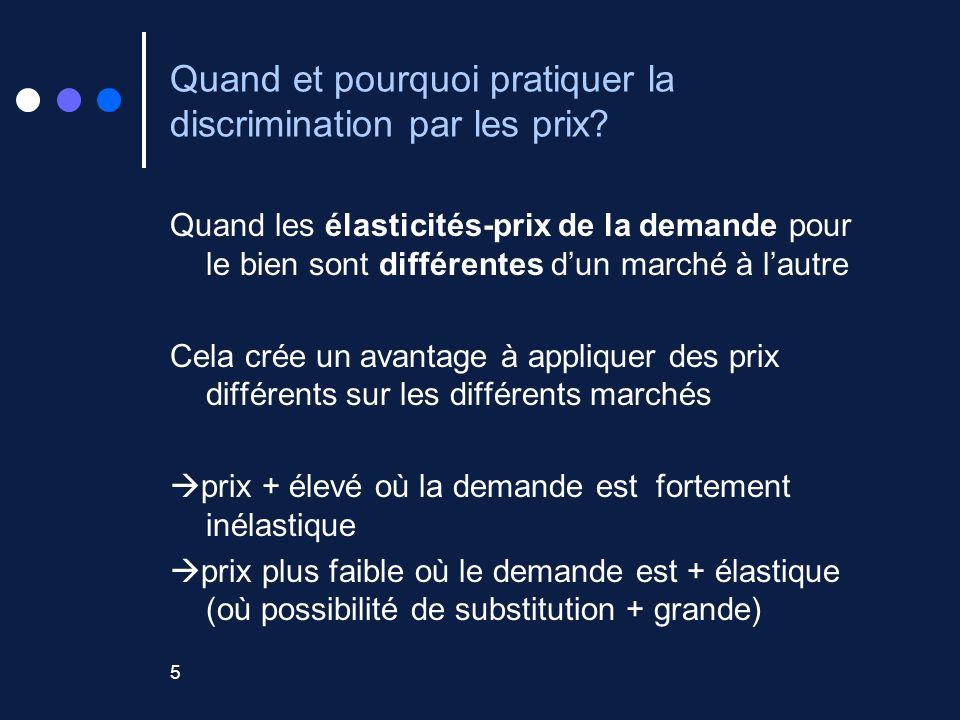 5 Quand et pourquoi pratiquer la discrimination par les prix.