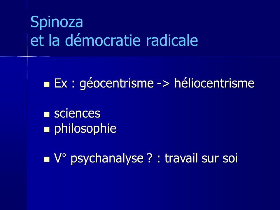 Ex : géocentrisme -> héliocentrisme Ex : géocentrisme -> héliocentrisme sciences sciences philosophie philosophie V° psychanalyse .