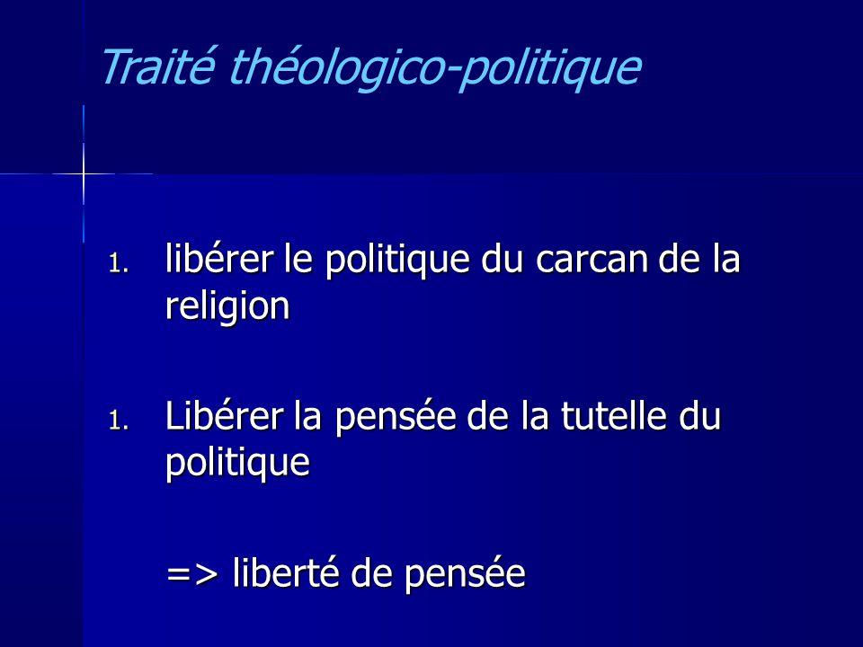 1.libérer le politique du carcan de la religion 1.