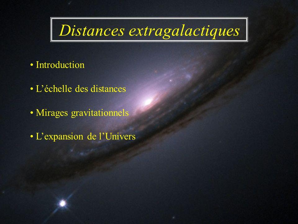 Distances extragalactiques Introduction Léchelle des distances Mirages gravitationnels Lexpansion de lUnivers