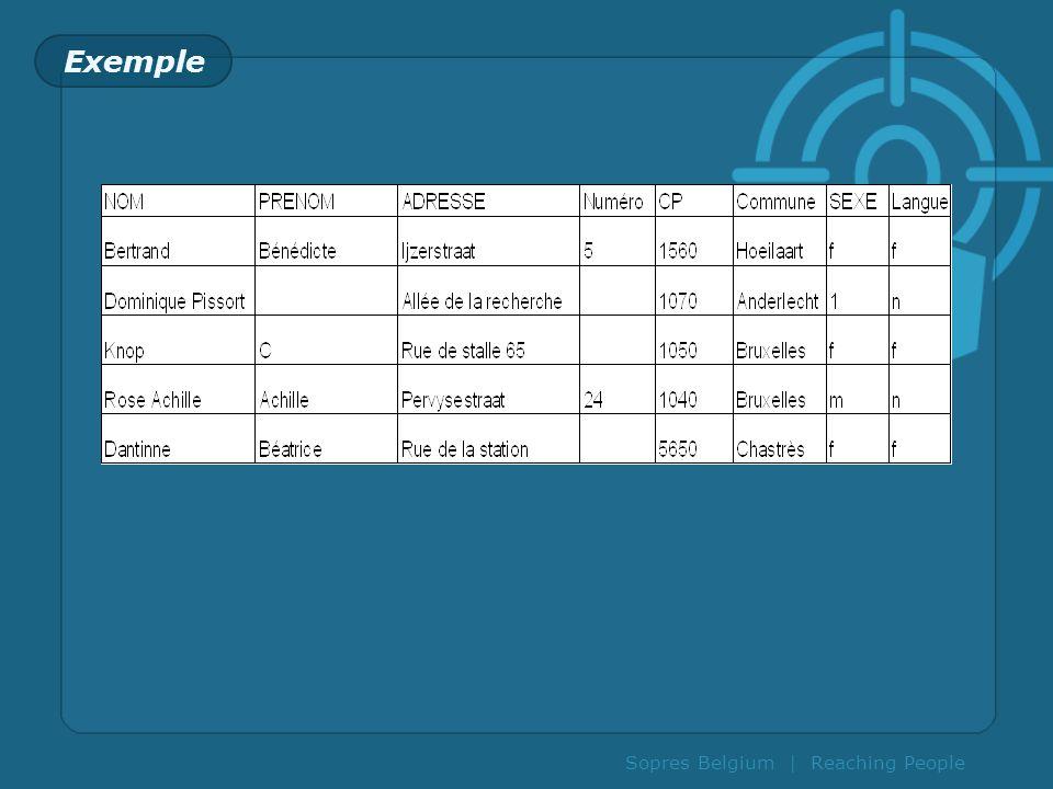 Sopres Belgium | Reaching People Fichiers opérationnels versus fichiers marketing .
