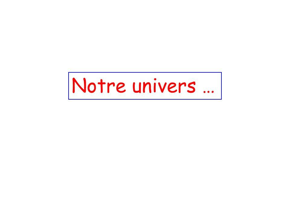 Notre univers …